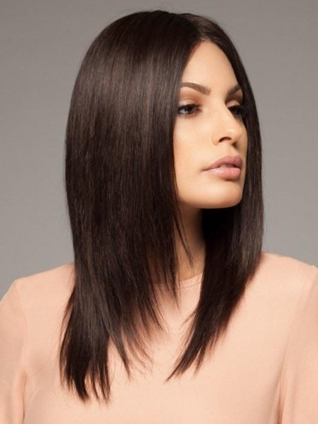 Remy Human Hair Lace Front Straight Wig