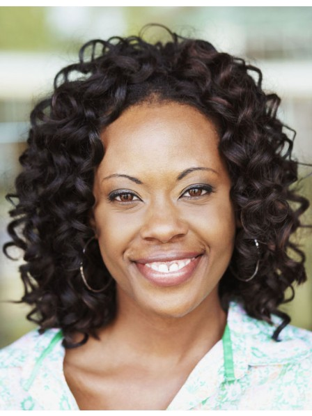Retro half wigs body wavy hair for black women