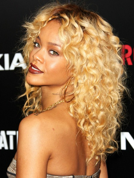 Rihannas Most Iconic Blonde Curly Hair Wig For Black Women