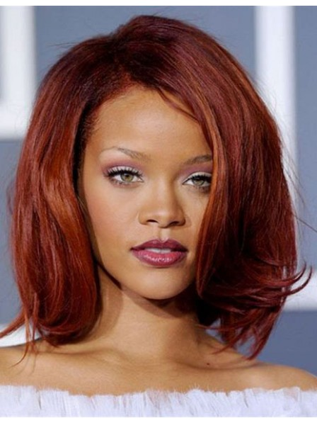 Rihanna's Synthetic Bob Hair Wig Lace Front Mono Top Hairstyle