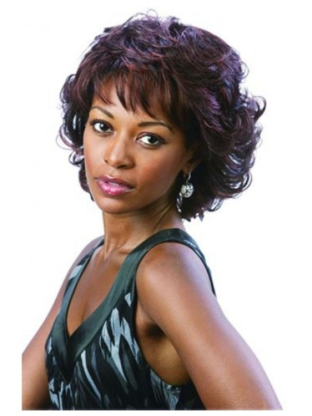Rinka curly brown human hair wigs for black women
