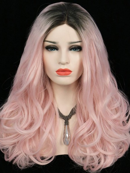 Rose Diva Pale Pink Lace Front Wig