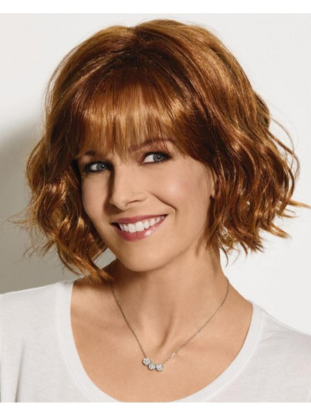 Sassy Chin Length Bob Wig With Lightly Tousled Layers Of