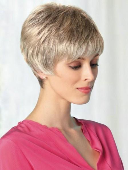 Sassy Cut Platinum Blonde Short Wig