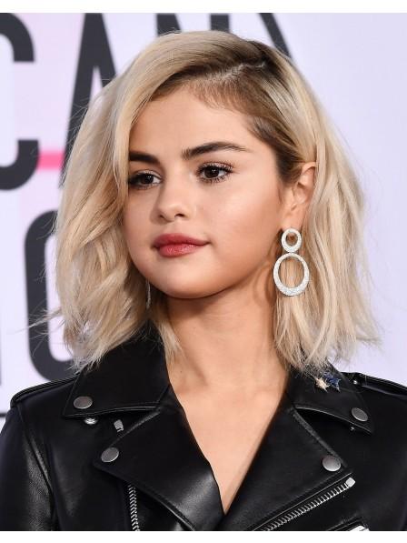 Selena Gomez's Cool Bob Wavy Human Hair Wig