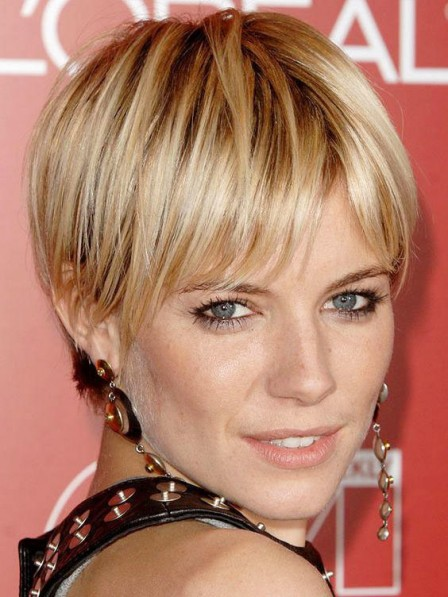Short Blonde Cropped Remy Human Hair Wig