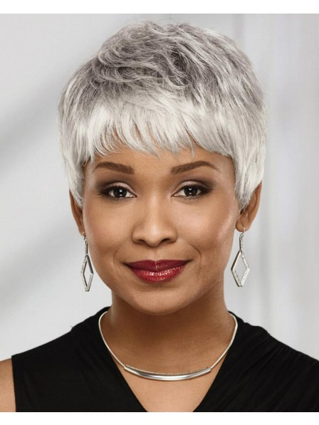Short Chic Pixie Wig With An Abundance Of Rich Feathery Layers