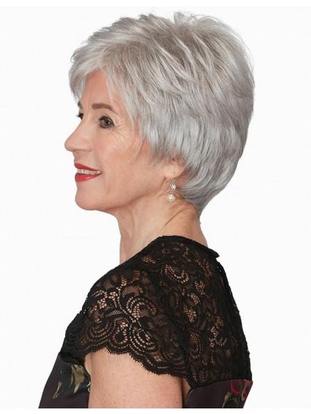 b4ea3de23a8fc6 Short Pixie Cut Grey Wig For Older Ladies - Rewigs.co.uk
