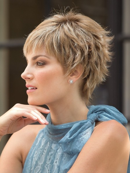 Short Point Cut with Cropped Layers Wig