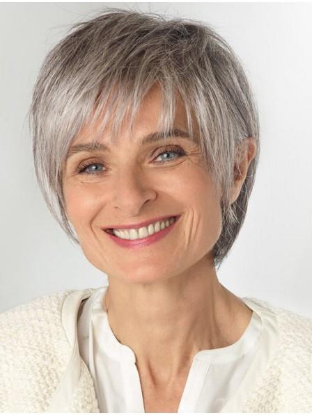 7e2b891e427f2e Short Straight Older Laides Grey Hair Wig - Rewigs.co.uk