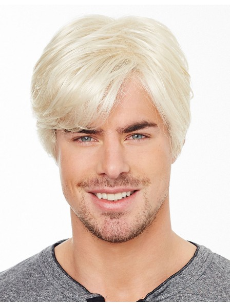 Short Stright With Bangs Lace Front Wigs Hair For Men