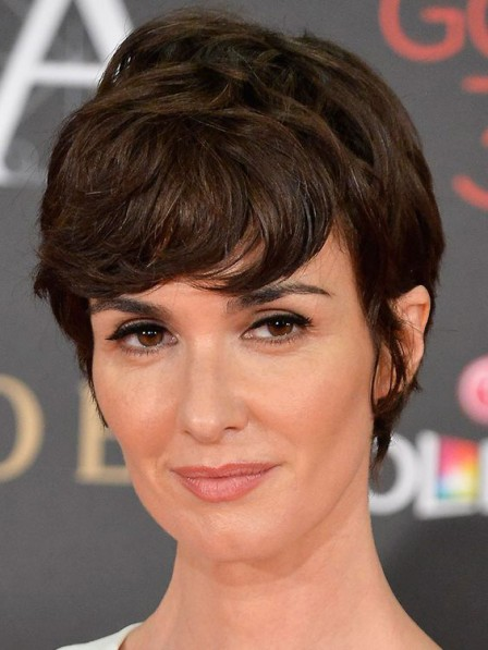 Short Wavy Indian Remy Human Hair Celebrity Wigs