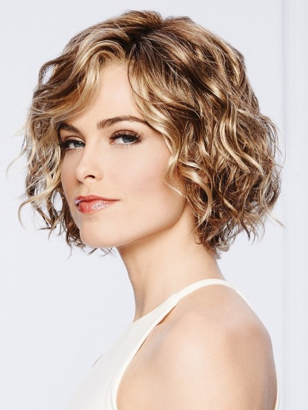 Short Wavy Synthetic Lace Front Blonde Bob Wig