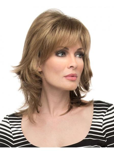 shoulder-length shag capless wig