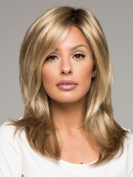 Shoulder Length Fashion Layered Lace Front Wig