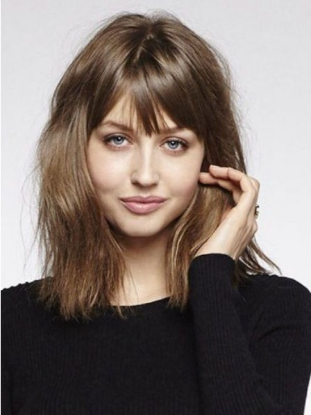 Shoulder Length Synthetic Hair Capless Wig For Young Ladies
