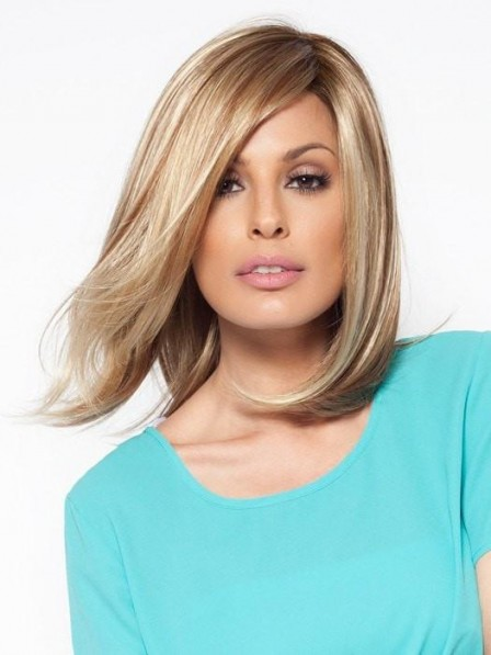 Shoulder Length Synthetic Lace Front Bob Wig