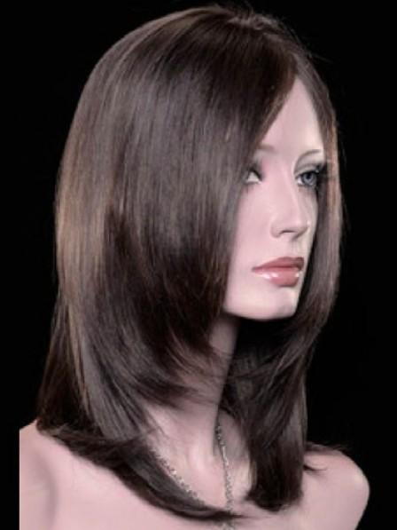 Sleek Full Lace Medium Length Heat Friendly Synthetic Hair Wigs