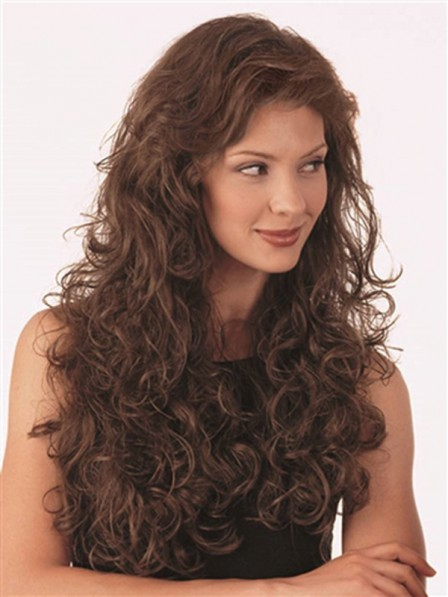 Small Curly Synthetic 3/4 Hairpiece For Women