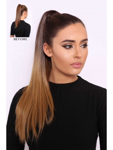 Straight Ombre Ponytail 20inch Syntheitc Hair