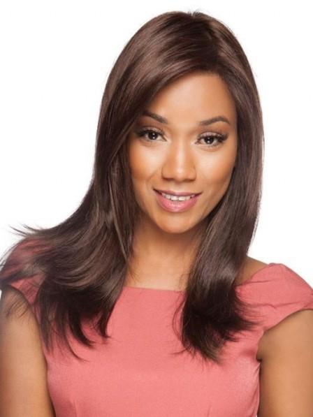 Strikingly Natural-looking Black Women Long Straight Wig