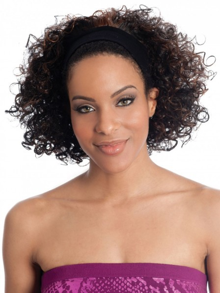 Stylish Curly Synthetic Half Wig