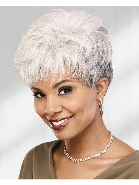 Stylish Pixie Wig With Short Richly Feather-Textured Layers