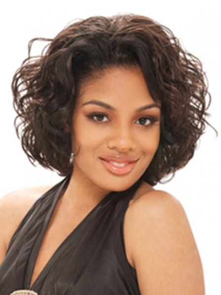 Stylish Short Synthetic Hair Half Wig