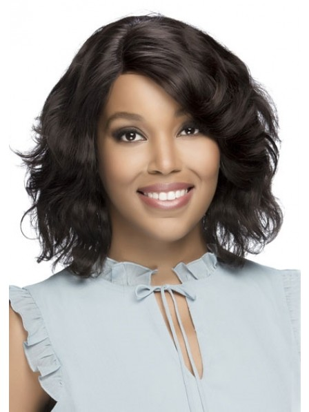 Subtle Yet Trendy Waves Remi Natural Brazilian Swiss Lace Front Wig