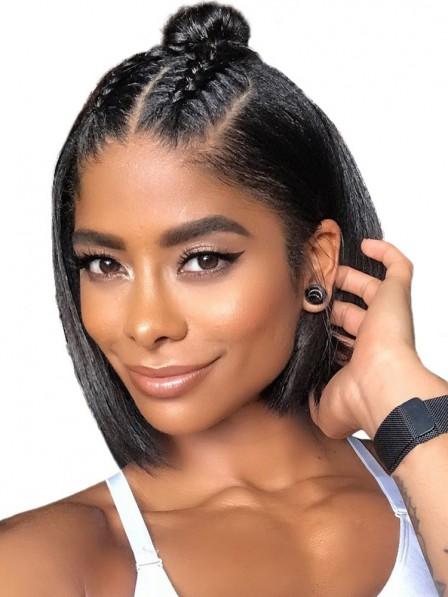 Super Short Lace Front Human Hair Wigs Deep