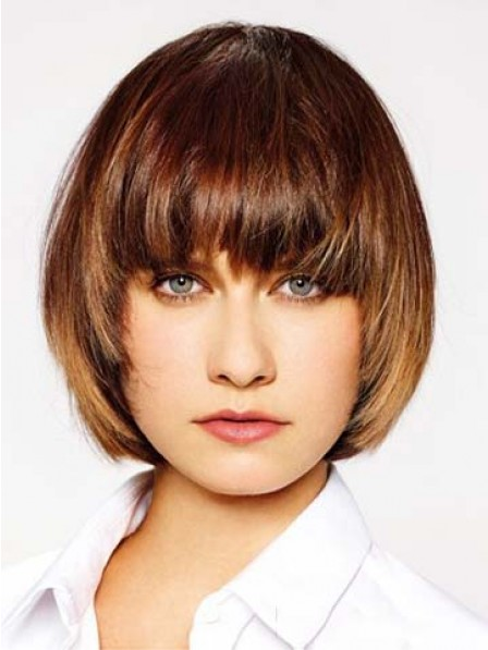 Capless Short Hairstyle With Bangs Wig
