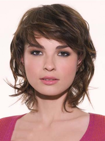 Layered Short Length Capless Human Hair Wig