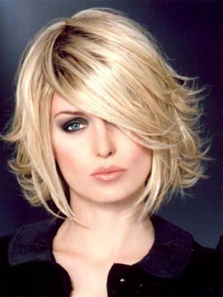 Shoulder Length Straight Women Wig