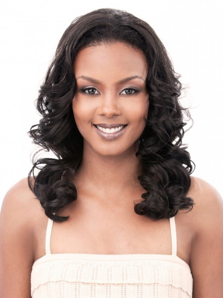 Synthetic Curly Hair Long Layered Half Wig