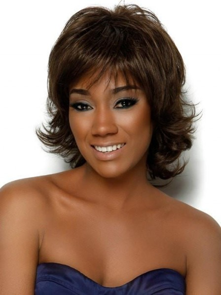Synthetic Layered Medium Wig