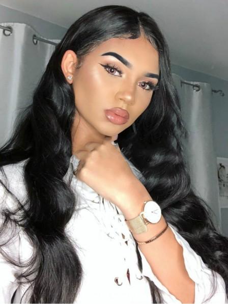 Textured Long Water Wavy Black Hair 100 Human Hair Wigs For Black Women