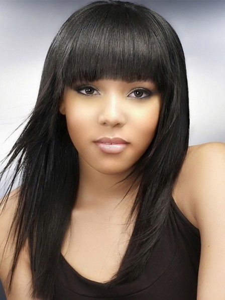 Textured Straight shiny shag 100% human hair wigs