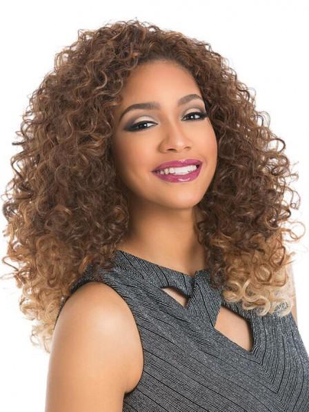 Vintage Shoulder Length Curly Half Wig