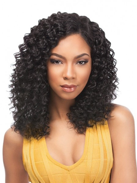 Vintage small curly shoulder length synthetic hair wigs