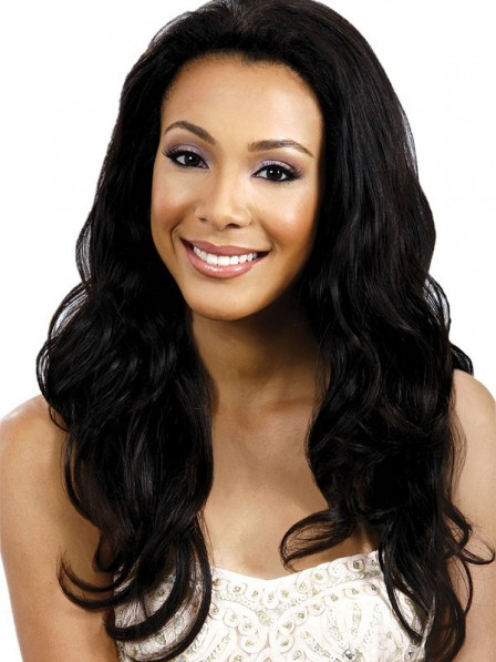 Women's lace front natural weave hair synthetic hair wigs