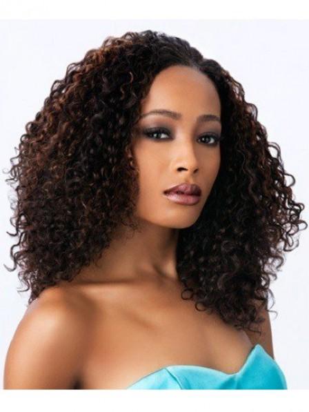 Women's small curly retro hairstyle medium wigs