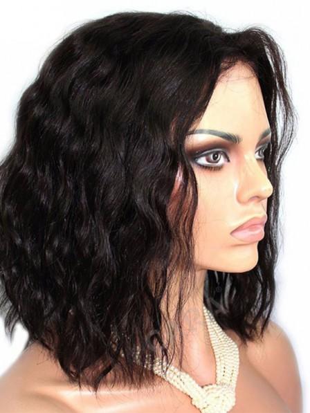Women's water wavy fashion hair wigs without bangs