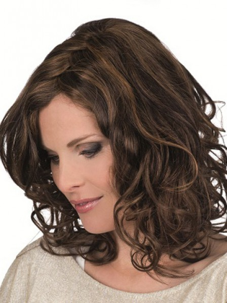 100% Hand-tied Full Lace Shoulder Length Wig