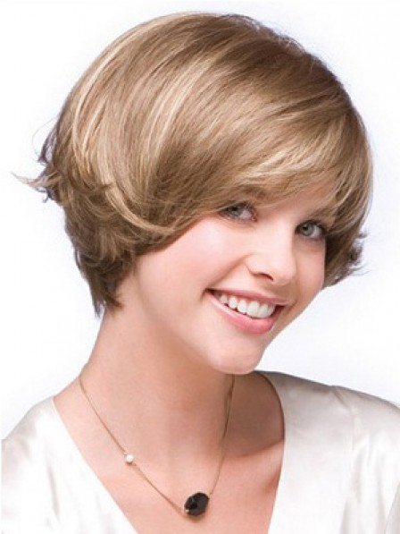 Short Curly Lace Front Hair Wig With Bangs