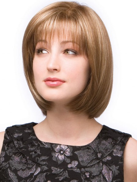 Short Bob Hair Style Lace Front Mono Top Wig With Bangs