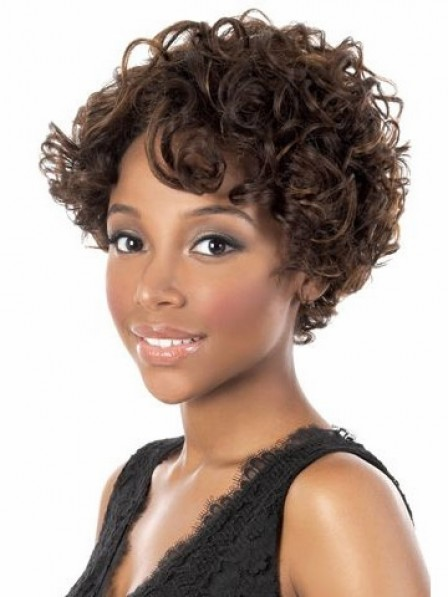 Curly Human Hair with Capless Cap Wigs