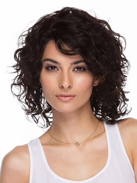 Shoulder Length Curly Lace Front Wigs