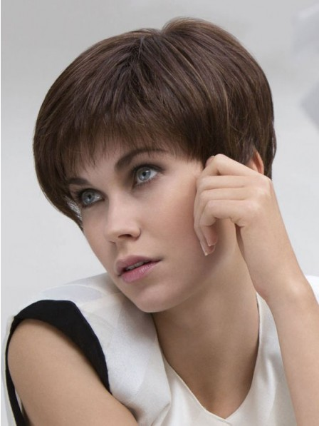Human Hair Lace Front Boycuts Women Hair Wig
