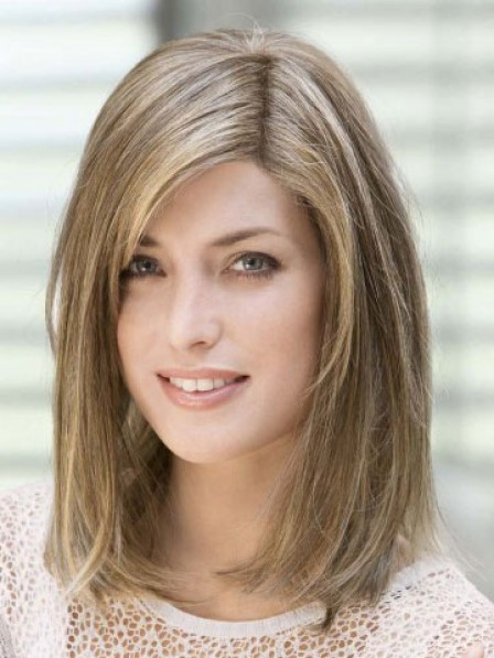 100% Hand-tied Shoulder Length Straight Full Lace Wig