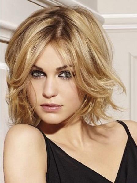 Human Hair Capless Layered Wig for Women
